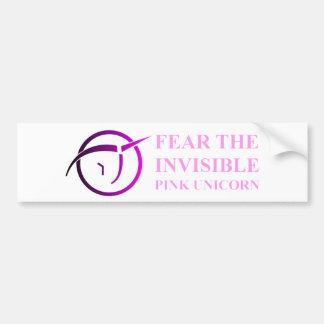 Unicornio rosado invisible Bumpersticker Etiqueta De Parachoque