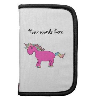 Unicornio rosado lindo organizador