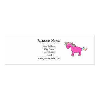 Unicornio rosado lindo plantilla de tarjeta personal