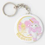 Unicornio rosado Po Llavero Personalizado