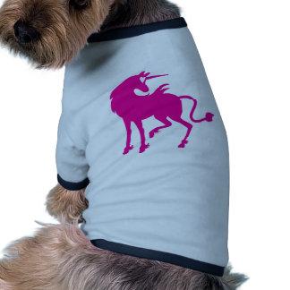 Unicornio rosado camiseta con mangas para perro