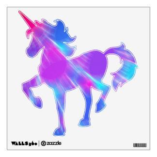 Unicornio rosado y púrpura azul Unfocused