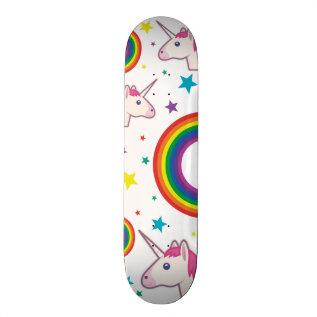Unicórnio Skate Emoji Skateboard Deck at Zazzle