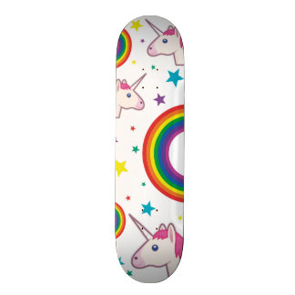 Unicórnio Skate Emoji Skateboard Deck