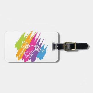Unicornio Spash Etiquetas De Equipaje