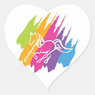 Unicornio Spash Pegatina En Forma De Corazón