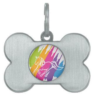 Unicornio Spash Placas De Nombre De Mascota