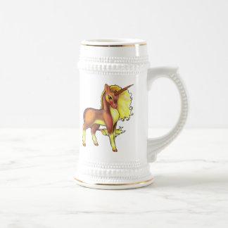 Unicornio Stein del otoño Jarra De Cerveza