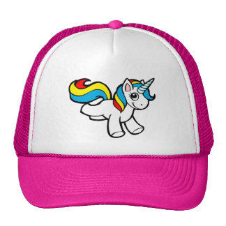 Unicornio Toon del arco iris Gorro