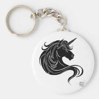 unicornio tribal negro llaveros