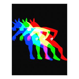 Unicornio V02 del RGB Membrete Personalizado