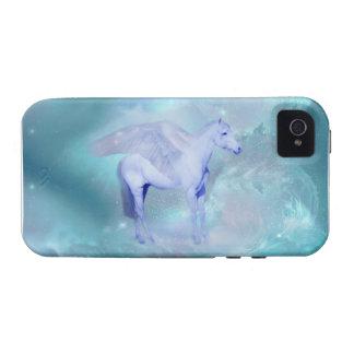Unicornio verde con fantasía de las alas Case-Mate iPhone 4 carcasas