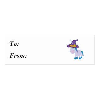 unicornio witchy de los goofkins tarjetas de visita mini