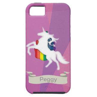 Unicornio y arco iris funda para iPhone 5 tough