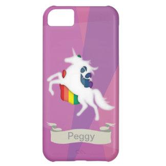 Unicornio y arco iris funda para iPhone 5C