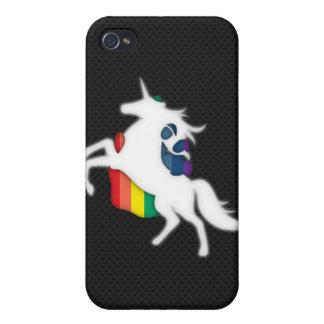 Unicornio y arco iris iPhone 4/4S fundas