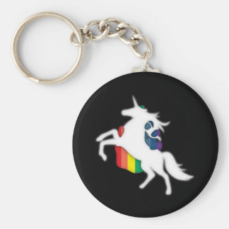 Unicornio y arco iris llavero redondo tipo pin