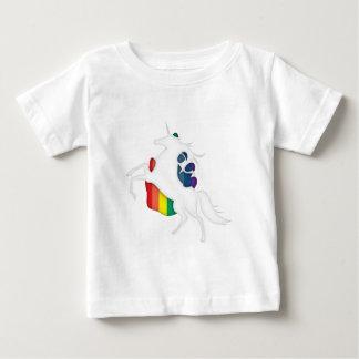 Unicornio y arco iris playera para bebé