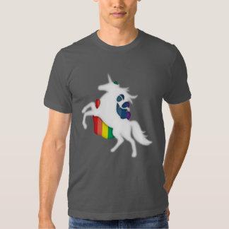 Unicornio y arco iris remeras