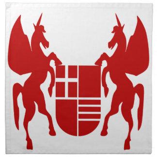 Unicornio y escudo servilletas