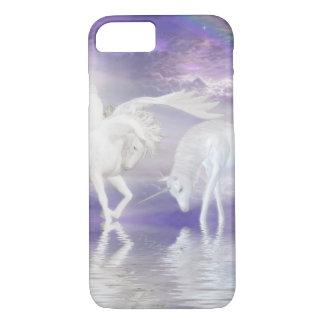 Unicornio y fantasía hermosos de Pegaso Funda iPhone 7