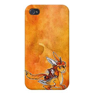 Unicornio y gato iPhone 4/4S carcasa