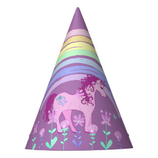 Unicornio y gorra del fiesta de la fiesta de gorro de fiesta