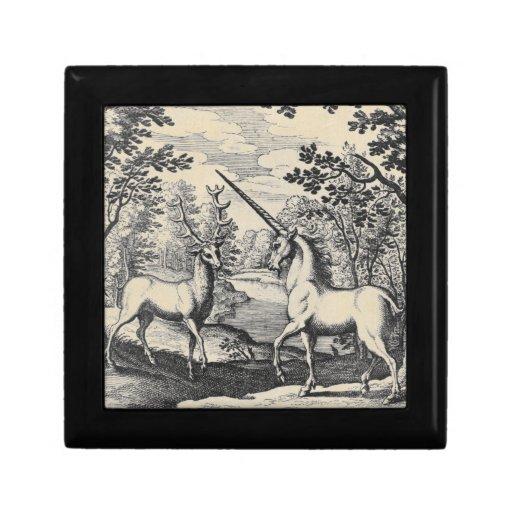 Unicornio y macho cajas de regalo