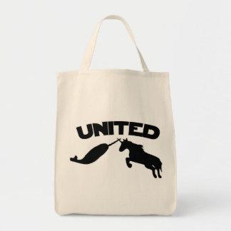 Unicornio y Narwhal Bolsa De Mano