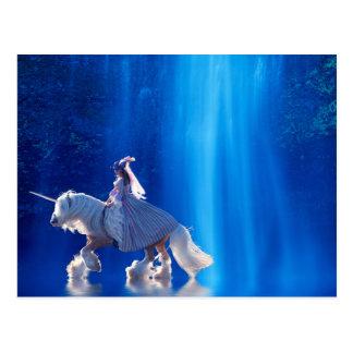 Unicornio y su señora postales