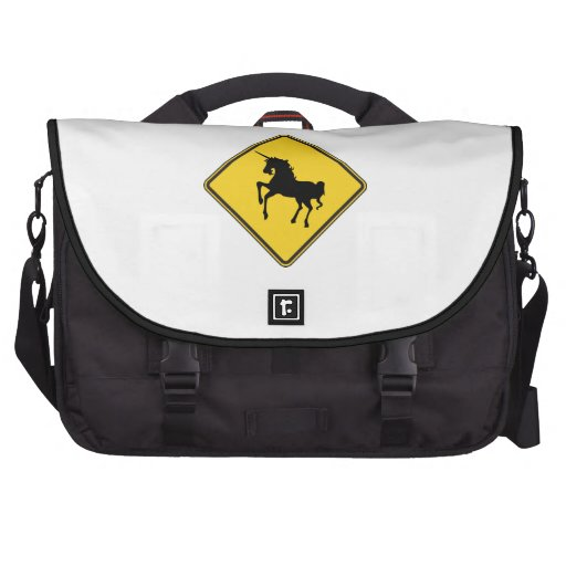 Unicornios amonestadores bolsa para ordenador