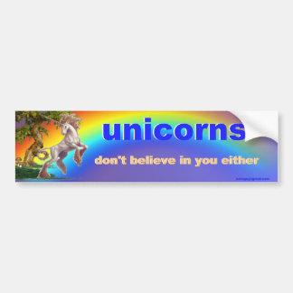 unicornios pegatina para coche