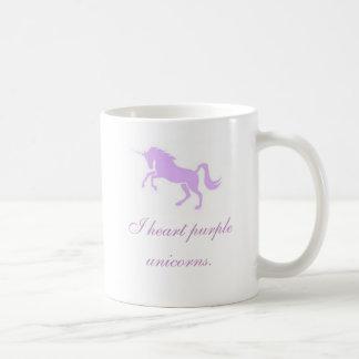 Unicornios de la púrpura del corazón I Taza