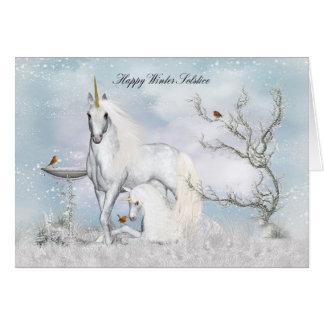 Unicornios de la tarjeta de felicitación del pleno