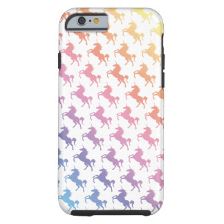Unicornios del arco iris funda de iPhone 6 tough