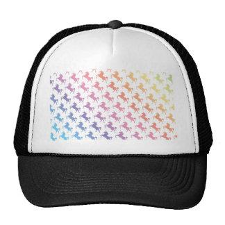 Unicornios del arco iris gorras de camionero