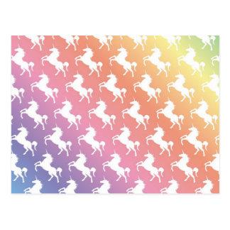 Unicornios del arco iris II Tarjeta Postal
