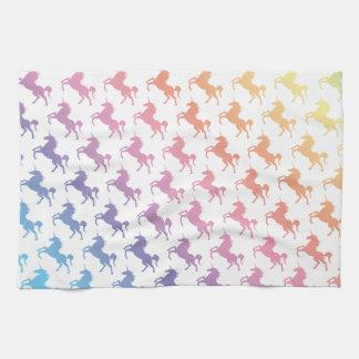 Unicornios del arco iris toallas