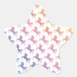 Unicornios del arco iris calcomanías forma de estrella personalizadas