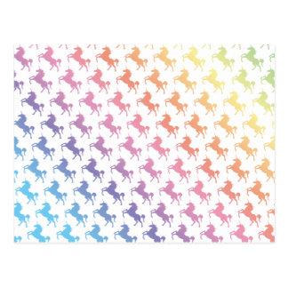Unicornios del arco iris postal
