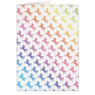 Unicornios del arco iris tarjeta de felicitación