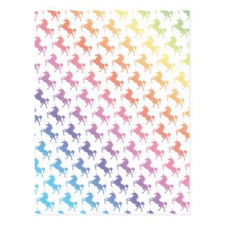 Unicornios del arco iris tarjeta postal