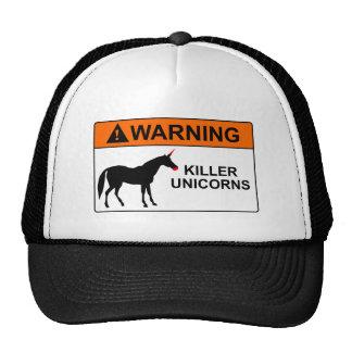 Unicornios del asesino gorros bordados
