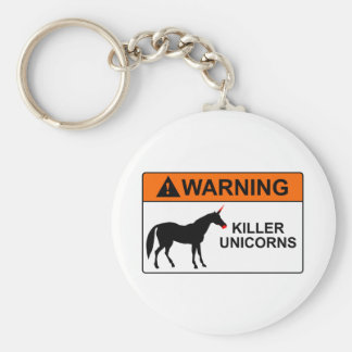Unicornios del asesino llavero personalizado