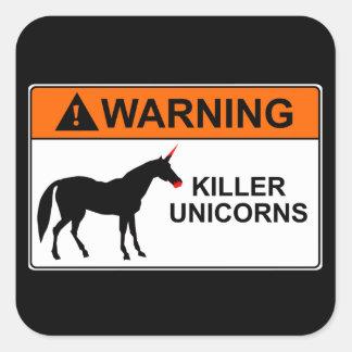 Unicornios del asesino colcomanias cuadradass