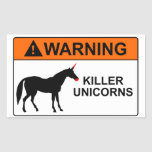 Unicornios del asesino pegatina