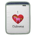 Unicornios del corazón I en rosa y oro Fundas Para iPads