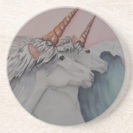 unicornios del mar posavasos para bebidas