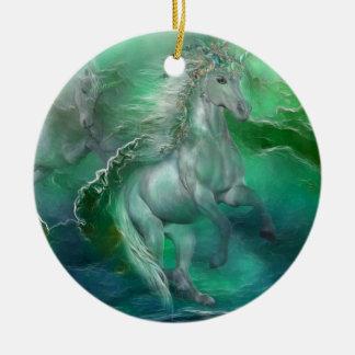 Unicornios del ornamento del día de fiesta del mar adornos