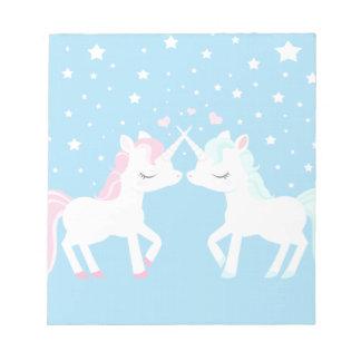 Unicornios en libreta del amor blocs de papel